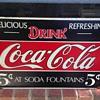 Coca Cola Enamel sign