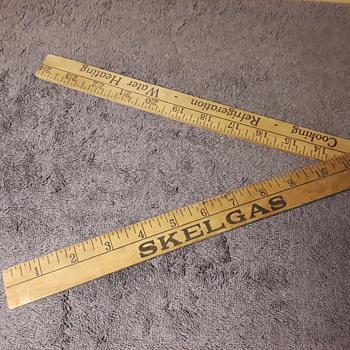 old folding two-foot SKELGAS advertising ruler - Advertising