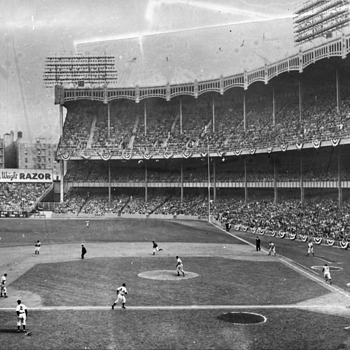 Estate sale find, Unreal Photo Negative of Yankee Stadium vs BKLYN  - Photographs