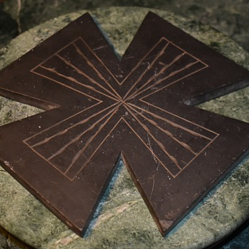 Carved Slate Iron Cross? - Folk Art