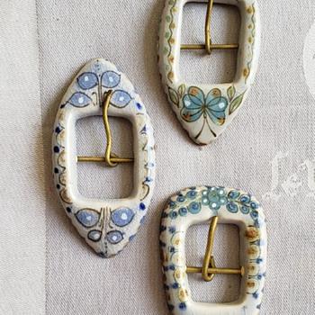 Ken Edwards Pottery buckles - Pottery