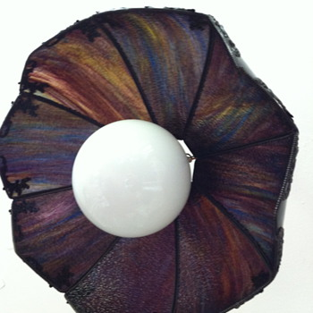 Art Nouveau Slag Glass Shade Chandelier