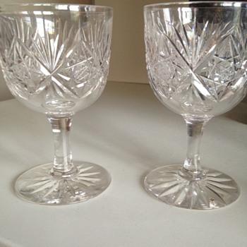 Cut glass wine glasses - Glassware
