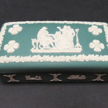 Wedgwood Jasperware Teal Oblong Box - China and Dinnerware