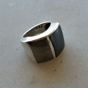 Pyrite sterling Mexico ring - Fine Jewelry