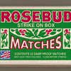 "Diamond Brands ""Rosebud"" Matchbox - USA"