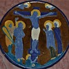 Daniel Zuloaga Small Plate Depicting Crucifixion