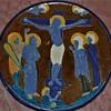 Daniel Zuloaga Small Plate Depicting Crucifixion
