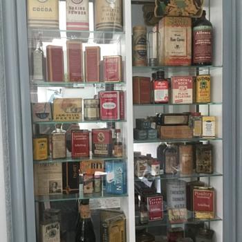 My antique spice,etc collection. - Kitchen