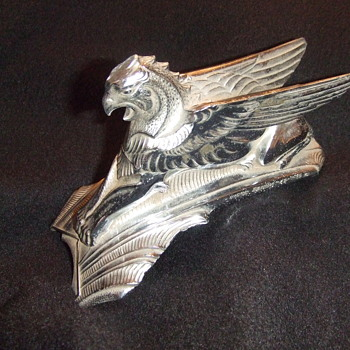1932 Fairbanks Griffin Hood Ornament - Art Deco