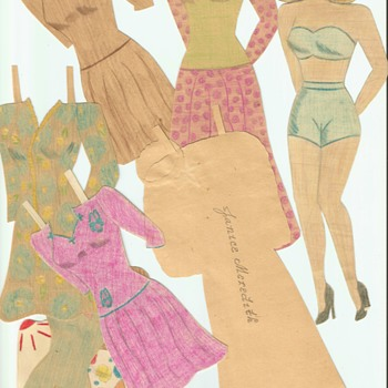 More Hand Drawn paper dolls 1940's WWII era