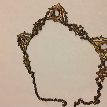 Necklace either junk or early...found near Greek god pendant - Costume Jewelry