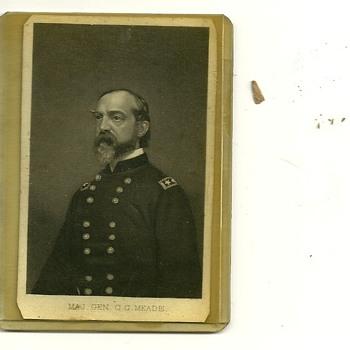 General George G. Meade Original Civil War Era CDV card.