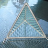 TRIANGLE GLASS WITH COUPLE OF HANDELS