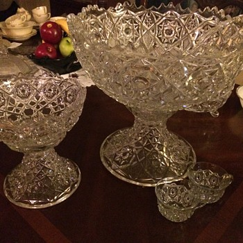 Fostoria Rosby Punch bowl set and a few extras - Glassware
