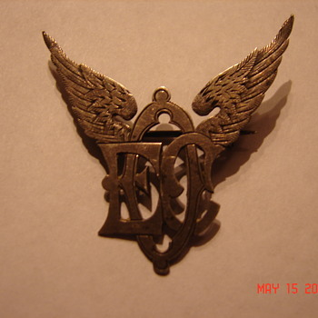 Strange Victorian Winged Pin Brooch