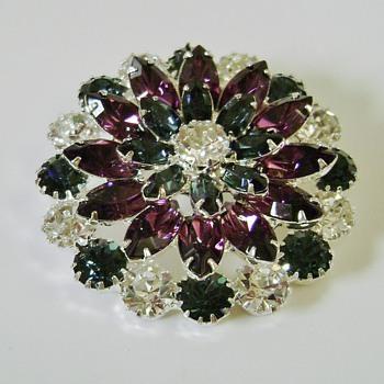 Eisenberg Ice Flower Brooch - Costume Jewelry
