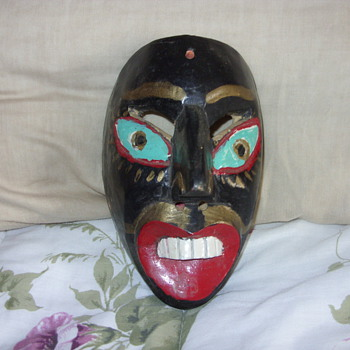 1939 mardi gras mask - Folk Art