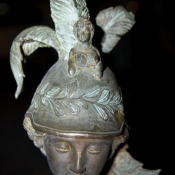 Athena - 4' Bronze Statue - 19th c - Fine Art