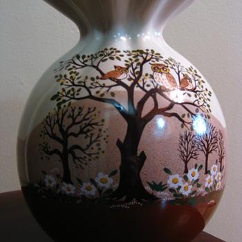 Satsuki Pottery Owl Vase