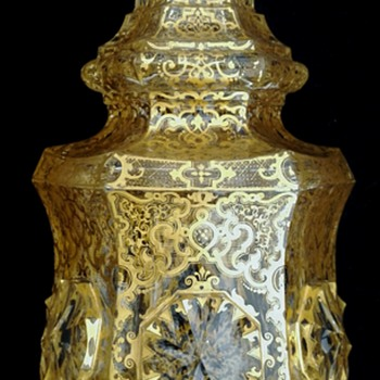 A Harrach Moresque Style ornamented Vase  - Art Glass
