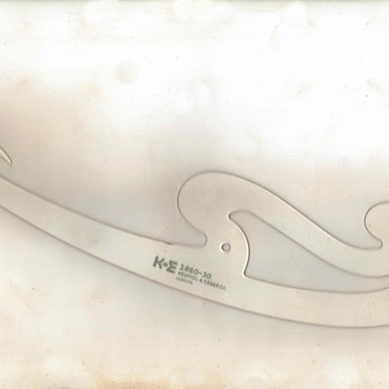 1950's - Keuffel & Esser French Curve Template
