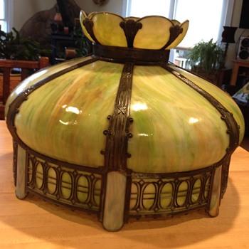 Antique Slag Glass Lampshade