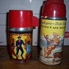 Roy Rodgers and Paladin vintage lunchbox thermos`