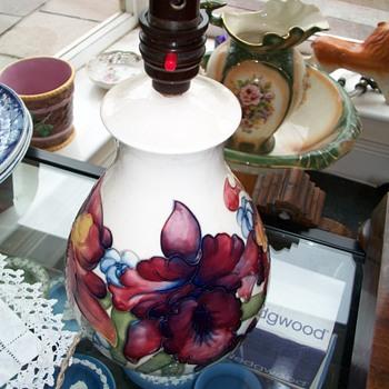 Moorcroft Lamp  - Pottery