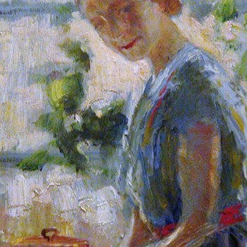 Mid-Century Oil Painting By Agnes Howell Ferguson (1895-1985) - Fine Art