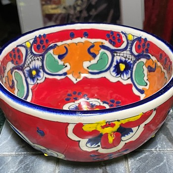 Vintage Dolores Hidalgo Talavera Bowl - Pottery