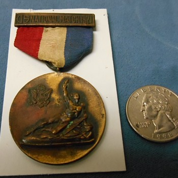 "1921 ""U S NATIONAL MATCH"" Medal~Shooting?  Or what? - Medals Pins and Badges"