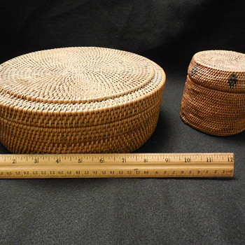 Inuit Lidded Baskets? Native American? or Asian? or  Lombok, Indonesia? Help! - Asian