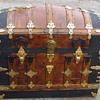 Ornate 1880's - 90's Barrel Top Trunk