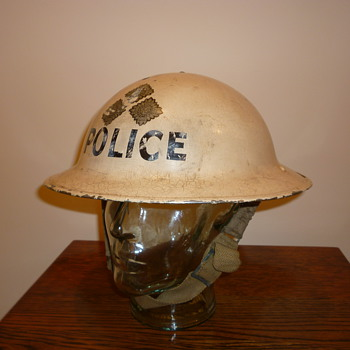 British WWII Chief Inspector of Police steel helmet.