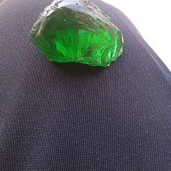 Natural green crystal