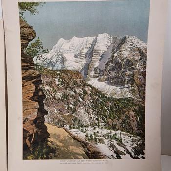 1912 Fred Kiser Prints - Glacier National Park Montana-Part 3 - Posters and Prints