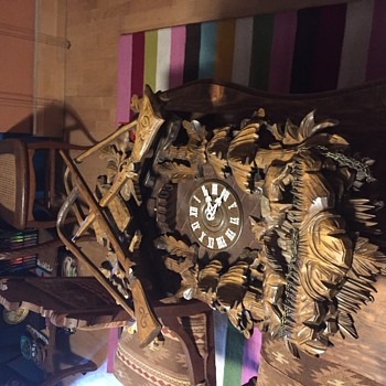 Large 36 inch Cuckoo Clock hunter style  - Clocks