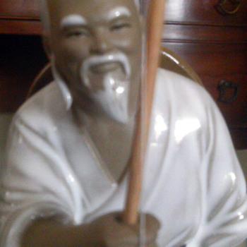 chinese man fishing - Asian
