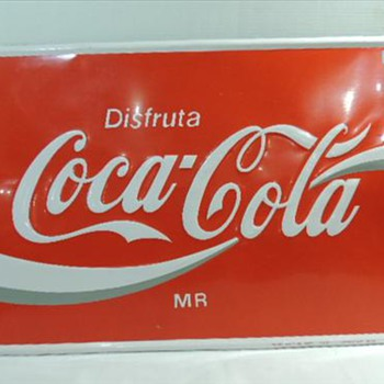 Coca Cola difrutas sign 24x35