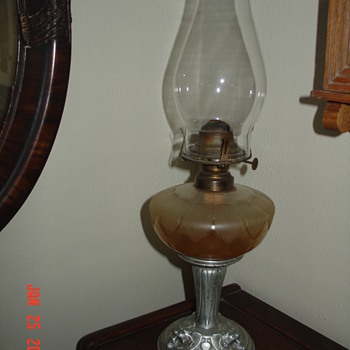 Antique Oil Lamp - Lamps