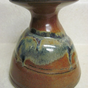 "4"" Artist Signed Candlestick - Pottery"