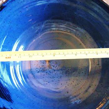 Ceramic Mystery Bowl  BIG!!!  made 1975?  Where?