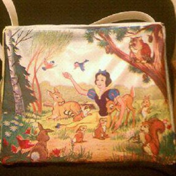 1967 Snow White And Seven Dwarfs Vynal Brunch Bag