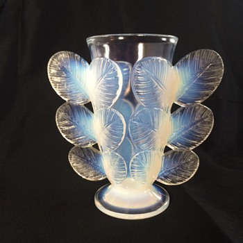 Pierre D'Avesn Molded Leaf Vase