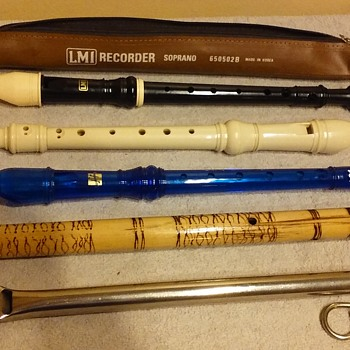 four flutes and a whistle - Musical Instruments