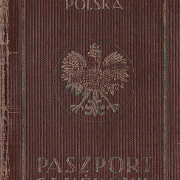 1938-39 Polish Service passport