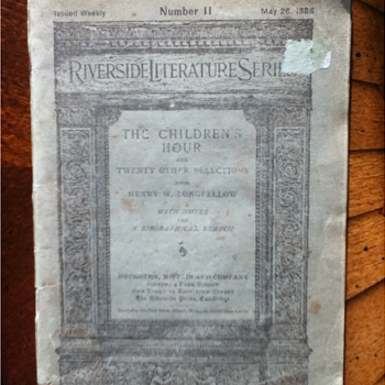 """Riverside Literary Series"" - No. 11  - Paper"