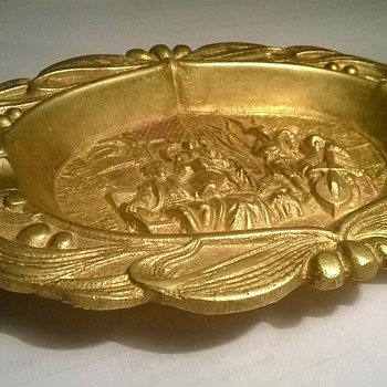 Cigar Ashtray brass, England? 19th century?  - Tobacciana