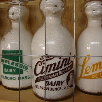 J. A. CIMINI DAIRY ...NORTH PROVIDENCE RHODE ISLAND BABY TOP MILK BOTTLE - Bottles